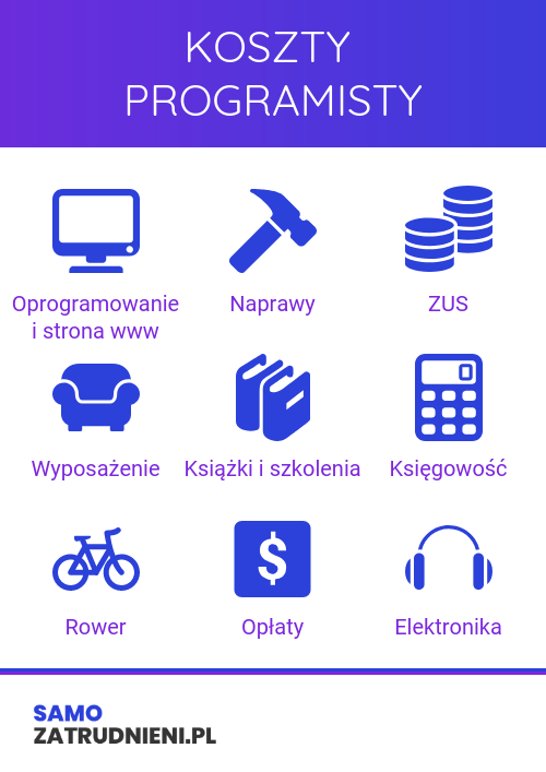 koszty programisty infografika